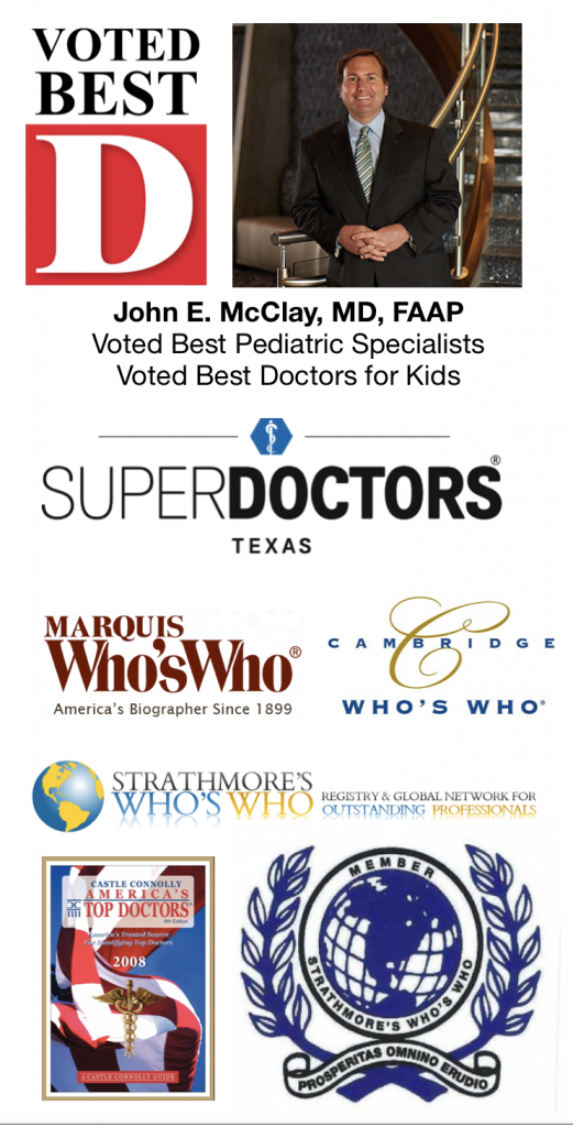 John McClay, MD Voted Best Pediatric Specialists